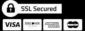 Secure site, We take major credit cards.